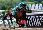 June 8, 2019 : #5, Majid, ridden by jockey Luis Saez, wins the Easy Goer on Belmont Stakes Festival Saturday at Belmont Park in Elmont, New York. Kaz Ishida/Eclipse Sportswire/CSM