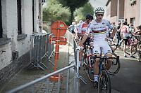 Wout Van Aert (BEL/Crelan-Vastgoedservice) pre-race<br /> <br /> Brico-cross Geraardsbergen 2016