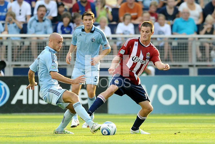 Sporting KC and Chivas USA played to a 1-1 tie at LIVESTRONG Sporting Park, Kansas City, Kansas.