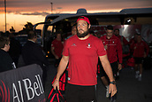 29th September 2017, AJ Bell Stadium, Salford, England; Aviva Premiership Rugby, Sale Sharks versus Gloucester; Gloucester Rugby's Josh Hohneck arrives at the stadium
