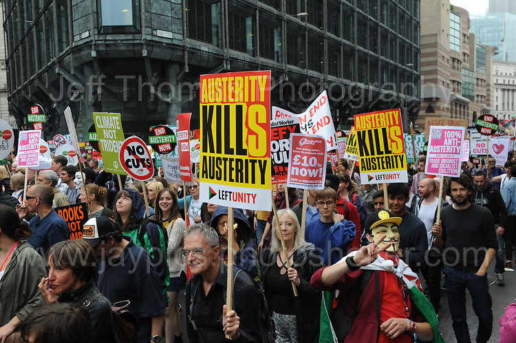 "London 20th June 2015 - The ""End Austerity Now"" protest rally. <br /> <br /> <br /> Jeff Thomas Photography -  www.jaypics.photoshelter.com - <br /> e-mail swansea1001@hotmail.co.uk -<br /> Mob: 07837 386244 -"