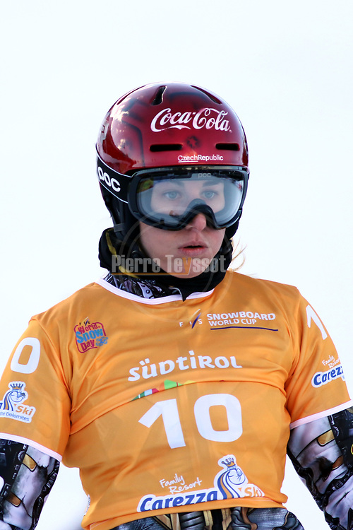 Snowboard World Cup 2018 FIS in Carezza, on December 14, 2017; Parallel Giant Slalom; Ester Ledecka (CZE)