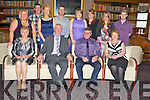 Eugene Roberts, Clonkeen, Killarney and Neilie O'Connell, Cappaganeen, Beaufort, pictured as they celebrated their retirement from St Finians Hospital, Killarney after a combined service of almost 88 years in Scotts Hotel, Killarney on Thursday night. Pictured with them are Mary, Kathy, Patrick and Caitriona Roberts, Seamus O'Sullivan, Sheila, Lisa, Maria, Catriona and Michael O'Connell.....