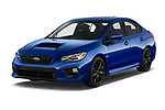 2018 Subaru WRX Base 4 Door Sedan angular front stock photos of front three quarter view