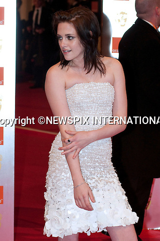 "KRISTEN STEWART.at the Annual British Academy Film Awards, Royal Opera House, London_21st February, 2010..Mandatory Photo Credit: ©Dias/NEWSPIX INTERNATIONAL..**ALL FEES PAYABLE TO: ""NEWSPIX INTERNATIONAL""**..PHOTO CREDIT MANDATORY!!: NEWSPIX INTERNATIONAL(Failure to credit will incur a surcharge of 100% of reproduction fees)..IMMEDIATE CONFIRMATION OF USAGE REQUIRED:.Newspix International, 31 Chinnery Hill, Bishop's Stortford, ENGLAND CM23 3PS.Tel:+441279 324672  ; Fax: +441279656877.Mobile:  0777568 1153.e-mail: info@newspixinternational.co.uk"