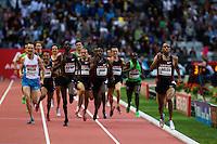 08 JUL 2011 - PARIS, FRA - Amine Laalou (right) wins the men's 1500m at the Meeting Areva round of the Samsung Diamond League .(PHOTO (C) NIGEL FARROW)