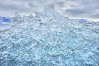 Glacier Ice on Beach, Jokulsarlon, Iceland