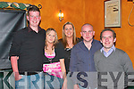 At the benefit dance in aid of Greaney family in the Knockdown Arms Bar Athea on Friday night were, Michael O'Reilly, Mary Ann Murphy, Mary O'Reilly, James O'Mahoney and Matt O'Gorman..   Copyright Kerry's Eye 2008