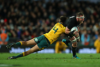 Kieran Read in action during the Bledisloe Cup and Rugby Championship rugby match between the New Zealand All Blacks and Australia Wallabies at Eden Park in Auckland, New Zealand on Saturday, 25 August 2018. Photo: Simon Watts / lintottphoto.co.nz