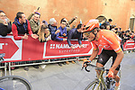 Greg Van Avermaet (BEL) CCC Team climbs Via Santa Caterina in Siena in the last km of Strade Bianche 2019 running 184km from Siena to Siena, held over the white gravel roads of Tuscany, Italy. 9th March 2019.<br /> Picture: Eoin Clarke | Cyclefile<br /> <br /> <br /> All photos usage must carry mandatory copyright credit (&copy; Cyclefile | Eoin Clarke)
