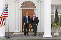 United States President-elect Donald Trump (L) poses with New Jersey Governor Chris Christie at the clubhouse of Trump International Golf Club, in Bedminster Township, New Jersey, USA, 20 November 2016.<br /> Credit: Peter Foley / Pool via CNP /MediaPunch