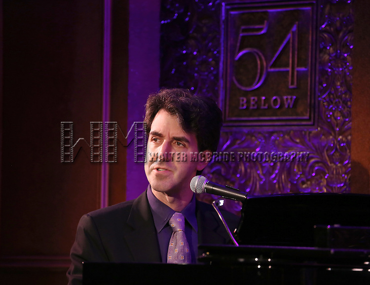 Jason Robert Brown performs a press preview of 'The Last 5 Years in Concert'  at 54 Below on September 23, 2013 in New York City.