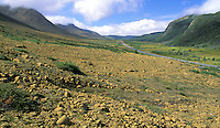 Highway through Gros Morne National Park, Highway 431, Gros Morne National Park, Newfoundland, Canada