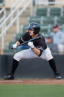 Jameson Fisher (11) of the Kannapolis Intimidators squares to bunt against the Lakewood BlueClaws at Kannapolis Intimidators Stadium on April 6, 2017 in Kannapolis, North Carolina.  The BlueClaws defeated the Intimidators 7-5.  (Brian Westerholt/Four Seam Images)
