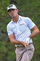 Billy Horschel (USA) watches his tee shot on 2 during Round 3 of the Valero Texas Open, AT&amp;T Oaks Course, TPC San Antonio, San Antonio, Texas, USA. 4/21/2018.<br /> Picture: Golffile   Ken Murray<br /> <br /> <br /> All photo usage must carry mandatory copyright credit (&copy; Golffile   Ken Murray)