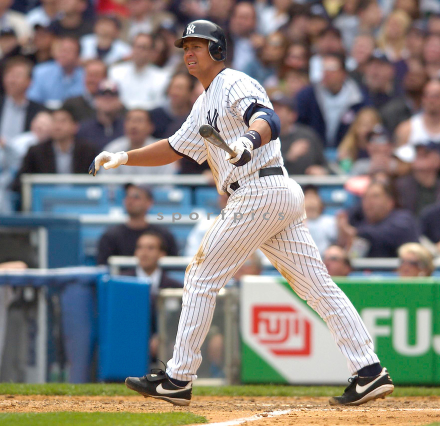 Alex Rodriguez, of the New York Yankees in action against the Kansas City Royal in New York....Chris Bernacchi / SportPics