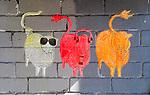 See, Hear, Say - three wise sheep graffiti, Newtown, Sydney