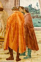Italy, Florence Santa Maria del Carmine Church, Brancacci Chapel,  frescoes of Masaccio and Masolino