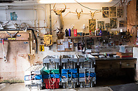 "Tools and crates are seen in Island Seafood's ""bait shop"" where fishermen bring lobsters to sell to the dealer in on Badger's Island in Kittery, Maine, USA, on Wed., Jan. 31, 2018."