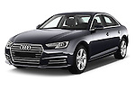 2017 Audi A4 Sport 4 Door Sedan Angular Front stock photos of front three quarter view