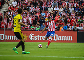 June 4th 2017, Estadi Montilivi,  Girona, Catalonia, Spain; Spanish Segunda División Football, Girona versus Zaragoza; Alcal plays the ball into the Zaragoza box