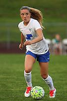 Piscataway, NJ, May 13, 2016. Boston Breakers midfielder Kristie Mewis (19) dribbles upfield. Sky Blue FC defeated the Boston Breakers, 1-0, in a National Women's Soccer League (NWSL) match at Yurcak Field.