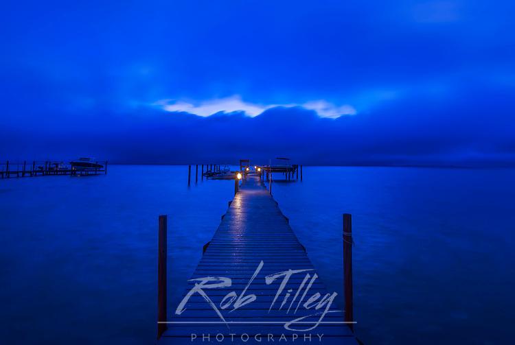 Florida, Captiva, Private Dock at Dawn