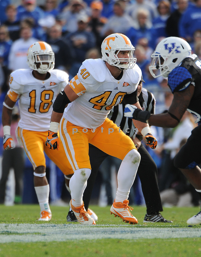 AUSTIN JOHNSON, of the Tennessee Volunteers, in action during Tennessee's game against the Kentucky Wildcats on November 26, 2011 at Commonwealth Stadium in Lexington, KY. Kentucky beat Tennessee 10-7.