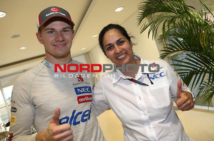 Nico Huelkenberg (GER), Sauber F1 Team - Monisha Kaltenborn (AUT), Sauber F1 Team, Managing Director <br /> for Austria &amp; Germany Media usage only!<br />  Foto &copy; nph / Mathis
