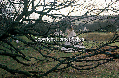 TeePee Valley near llandeilo Wales UK. Circa 1985