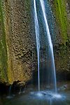 Detail at the base of Nojoqui Falls, waterfall near Solvang, Santa Barbara County, California