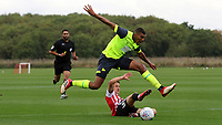 Colin Quaner of Huddersfield Town skips over a challenge during Brentford B vs Huddersfield Town Under-23, Friendly Match Football at Brentford FC Training Ground, Jersey Road on 12th September 2018