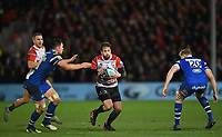 4th January 2020; Kingsholm Stadium, Gloucester, Gloucestershire, England; English Premiership Rugby, Gloucester versus Bath; Danny Cipriani of Gloucester takes on the Bath defence - Editorial Use