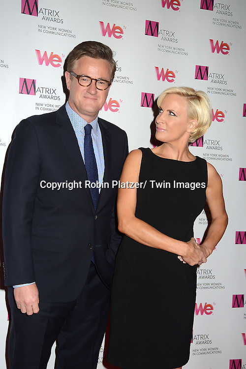 Joe Scarborough and Mika Brzezinski attend the 2013 Matrix Awards on April 22, 2013 at the Waldorf Astoria Hotel in New York City. The New York Women in Communications presented the awards.