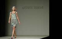 A model presents a creation by Antonio Pernas during the Pasarela Cibeles fashion show 2005, February 16, 2005 in Madrid. Photo by Victor Fraile / studioEAST