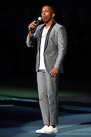 FLUSHING NY- AUGUST 29: Leslie Odom Jr performs during opening night ceremony on Arthur Ashe Stadium at the USTA Billie Jean King National Tennis Center on August 29, 2016 in Flushing Queens. Credit: mpi04/MediaPunch
