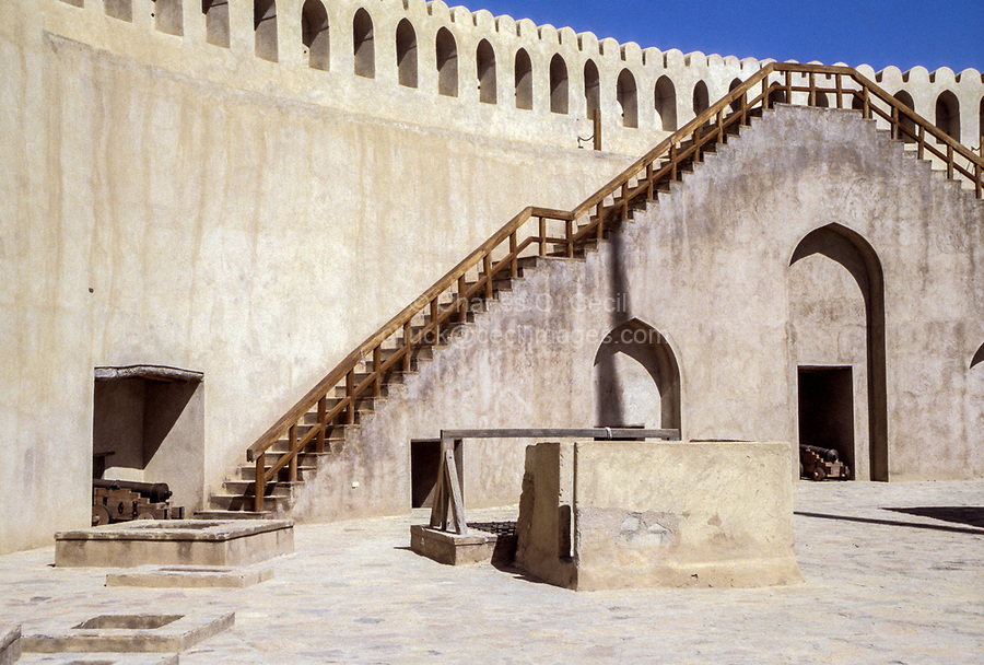 Nizwa, Oman.  Inside the Fort's Courtyard.