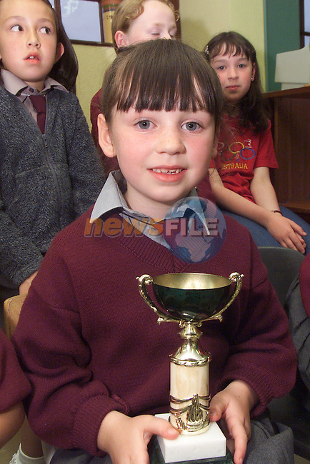 Kelly Finlay, who received trophy for Irish dancing, pictured at the awards night in St Mary's NS in Ardee..Picture: Arthur Carron/Newsfile
