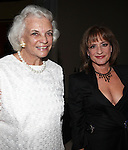 Sandra Day O'Connor & Patti Lupone.attending the Signature Theatre Stephen Sondheim Award Gala reception honoring Patti Lupone at the Embassy of Italy in Washington D.C. on 4/16/2012.