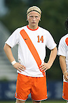 20 September 2013: Syracuse's Emil Ekblom (NOR). The Duke University Blue Devils hosted the Syracuse University Orangemen at Koskinen Stadium in Durham, NC in a 2013 NCAA Division I Men's Soccer match. Syracuse won the game 2-1.