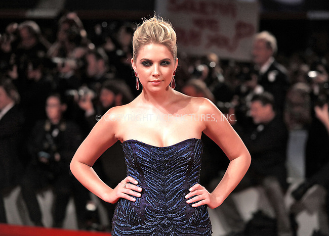 WWW.ACEPIXS.COM....US SALES ONLY....September 5, 2012, Venice, Italy.....Ashley Benson arriving at the premiere of 'Spring Breakers' on September 5, 2012 in Venice, Italy at the Venice Film Festival.........By Line: Famous/ACE Pictures....ACE Pictures, Inc..Tel: 646 769 0430..Email: info@acepixs.com