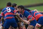 Luke Mealamu takes the ball of the back of a scrum. CMRFU Counties Power 2008 Club rugby McNamara Cup Premier final between Ardmore Marist & Patumahoe played at Growers Stadium, Pukekohe on July 26th.  Ardmore Marist won 9 - 8.