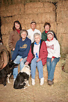 Families gather after Christmas at the Cuneo Ranch in California's Mother Lode. Robin, Jimmy, Loree, Verna, mother Evelyn, Kathleen and Jimmy's dog.