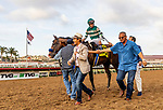 AUG 17: Higher Power and Flavien Prat wins the TVG Pacific Classic Stakes at The Del Mar Thoroughbred Club in Del Mar, California on August 17, 2019. Evers/Eclipse Sportswire/CSM