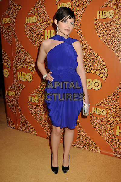 GINNIFER GOODWIN.HBO's 2010 67th Golden Globe Awards Post Party held at the Beverly Hilton Hotel, Beverly Hills, California, USA. .January 17th, 2009 .globes full length purple blue dress hand on hip silver clutch bag black shoes.CAP/ADM/BP.©Byron Purvis/Admedia/Capital Pictures