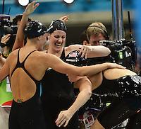 USA Gold Medal Women's 4x100 Medley relay.London 4/8/2012 Aquatics Center.London 2012 Olympic games - Olimpiadi Londra 2012.Swimming - Nuoto.Foto Andrea Staccioli Insidefoto