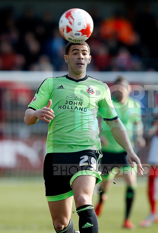Che Adams of Sheffield Utd - English League One - Fleetwood Town vs Sheffield Utd - Highbury Stadium - Fleetwood - England - 5rd March 2016 - Picture Simon Bellis/Sportimage