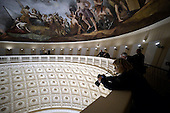 The Interior of the recently restored US Capitol dome is shown during a tour, on November 15, 2016 in Washington, D.C.<br /> Credit: Olivier Douliery / Pool via CNP