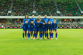 26th March 2018, nib Stadium, Perth, Australia; Womens International football friendly, Australia Women versus Thailand Women; Thailand have their team photo taken before the start of the match against the Matildas