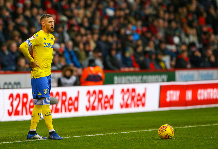 Leeds United's Barry Douglas<br /> <br /> Photographer Alex Dodd/CameraSport<br /> <br /> The EFL Sky Bet Championship - Sheffield United v Leeds United - Saturday 1st December 2018 - Bramall Lane - Sheffield<br /> <br /> World Copyright © 2018 CameraSport. All rights reserved. 43 Linden Ave. Countesthorpe. Leicester. England. LE8 5PG - Tel: +44 (0) 116 277 4147 - admin@camerasport.com - www.camerasport.com